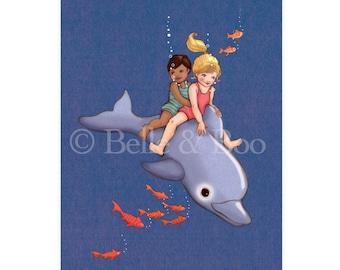 Dolphin Adventure Postcard