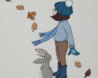 Windy Day Cross Stitch Pattern Downloadable PDF Make a wish