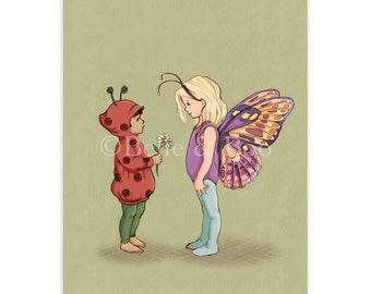 Bug Friends Postcard