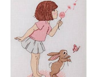 Dandelion cross Stitch Pattern Downloadable PDF Make a wish