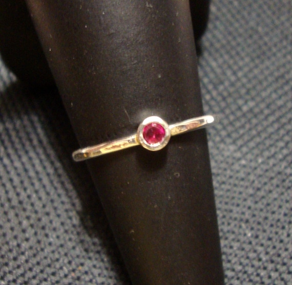 birthstone earth friendly sterling silver sapphire I make it by hand in the USA Romance Rose ring custom size