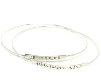 Mother's Day gift custom mom bracelet personalized bangle personalized bracelet mom bracelet baby bracelet mom gift new baby bracelet mom