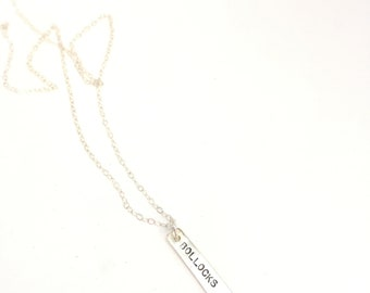 Bollocks necklace charm necklace sterling silver charm necklace