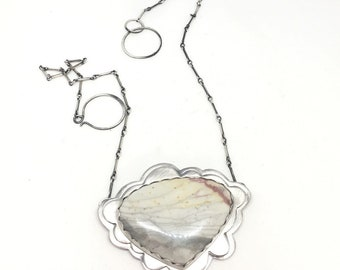 Jasper cloud necklace