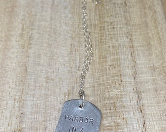 Harbor In A Storm sterling silver necklace