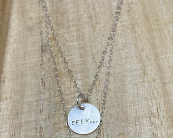SEEK... sterling silver layering necklace