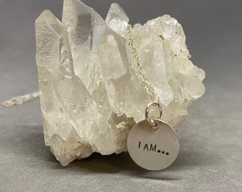 I AM...sterling silver layering necklace
