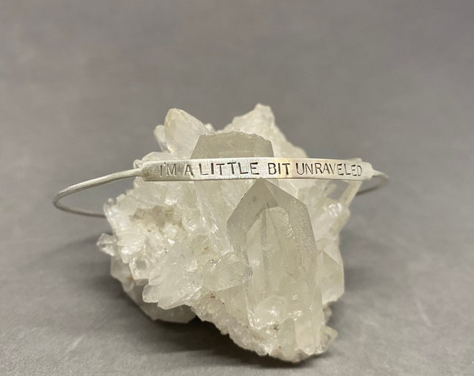 Featured listing image: I'm a little bit unraveled sterling silver bangle