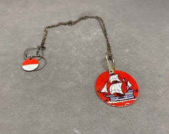 FatCat and Metalsgirl collaboration necklace - RED