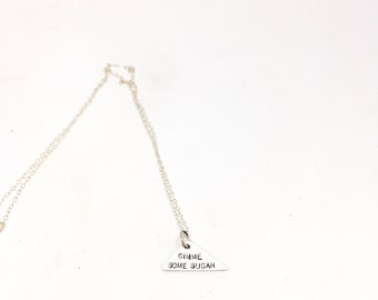 Charm necklace sterling silver necklace silver charm necklace sterling charm necklace sugar necklace