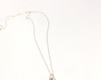 Bliss necklace sterling silver necklace silver charm necklace sterling charm necklace