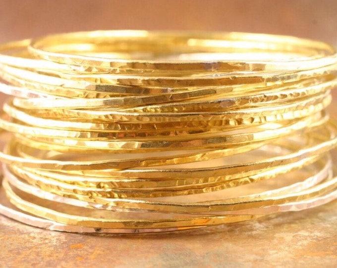 Featured listing image: Brass Bangles Set of 5, brass bangles, bangle, hammered brass bangles, stacking bangle bracelets