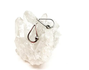 Sterling silver stud earrings teardrop studs everyday earrings
