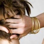 14k Solid Gold Bangle Bracelet, ONE gold bangle, gold bracelet, stacking bracelet, stacking bangle, hammered gold bangle
