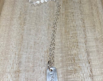 TRUE sterling silver necklace