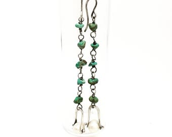 Turquoise and fresh water pearl earrings turquoise earrings pearl earrings
