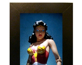 "Wonder Woman Classic Toy Photograph Framed Print 4"" x 6"""