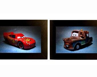 Cars Framed Photo Set Lightning McQueen and Mater Toys