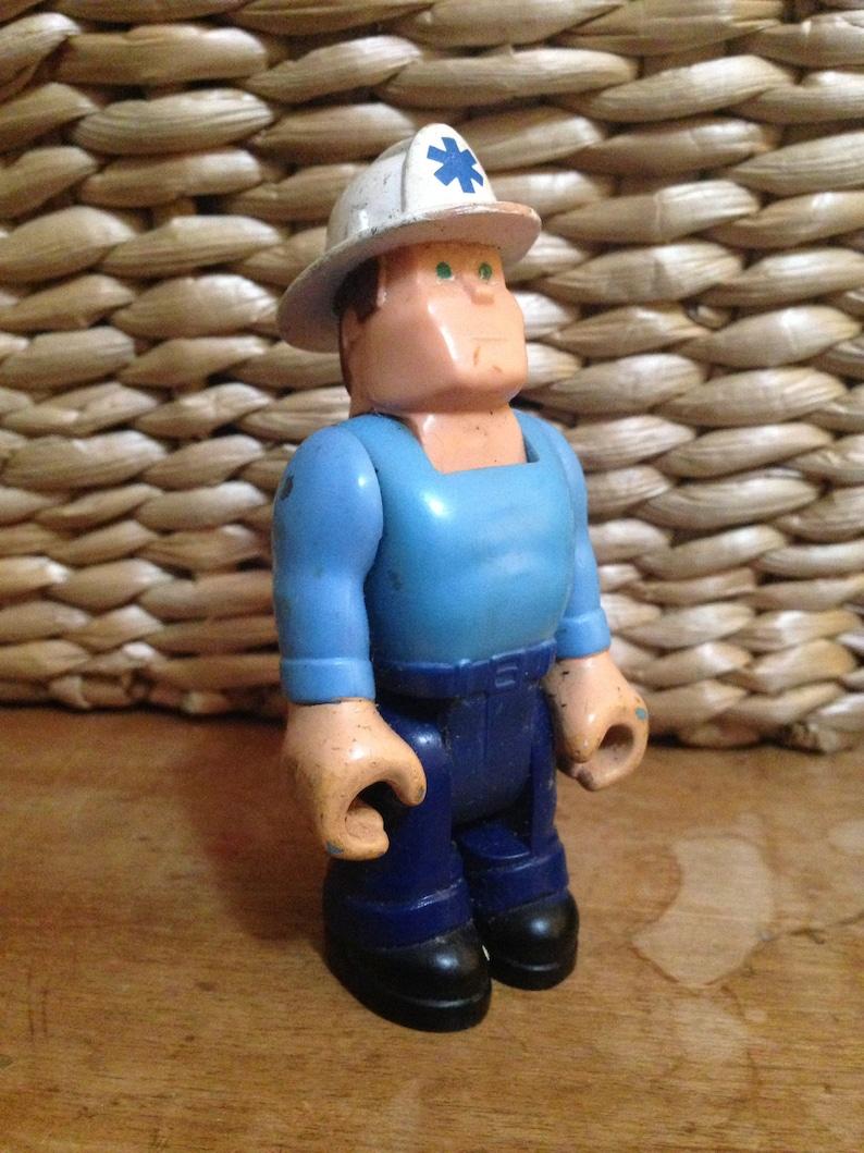 Fisher Price Husky Helpers Paramedic Action Figure 1977