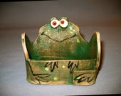 Froggie Business Card or Trinket Holder