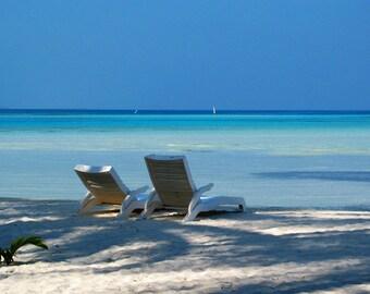 Sunloungers Tropical Beach - Digital Download