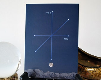 Pendulum Board featuring a Moonrise over Snowy Mountains
