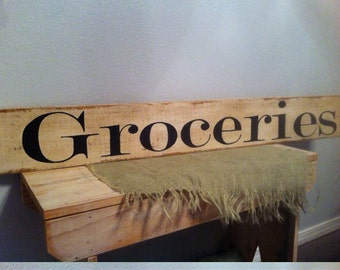 Groceries Sign Large Farmstyle