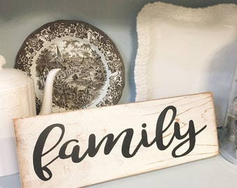 Family WOOD SIGN Hand-painted family