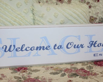 CUSTOM FAMILY NAME Sign Personalized Sign Perfect for Wedding or Anniversary Gift