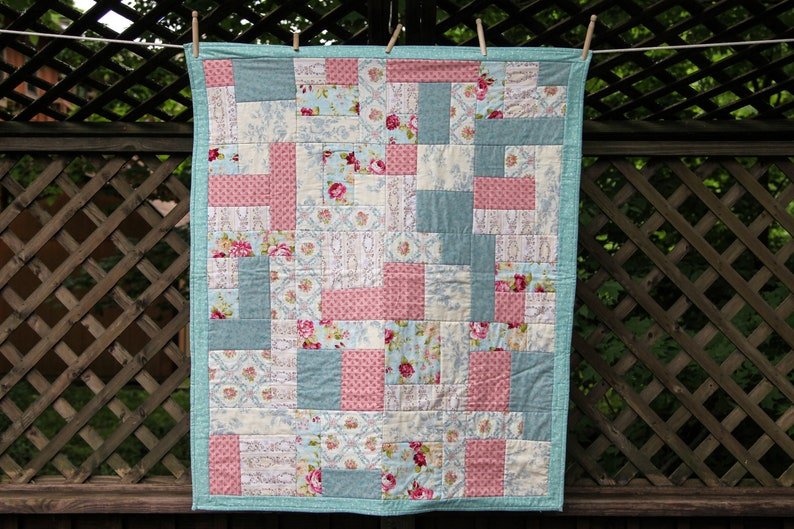 Shabby Chic Country Cottage Quilt by MadeMarion image 0