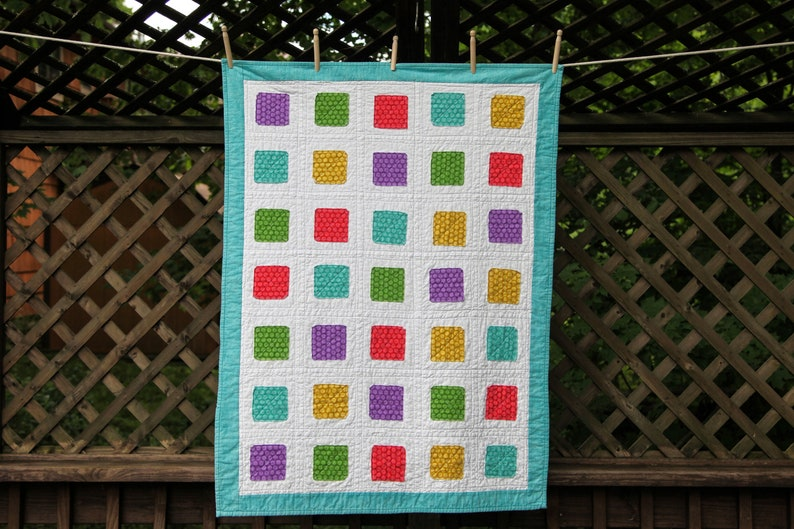 Polka Dot Squares Quilt by MadeMarion image 0