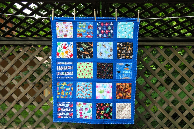 Blue I Spy Quilt by MadeMarion image 0