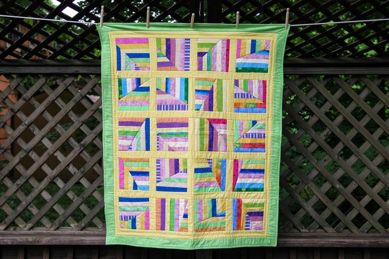 Scrappy Multi-Color Quilt by MadeMarion image 0