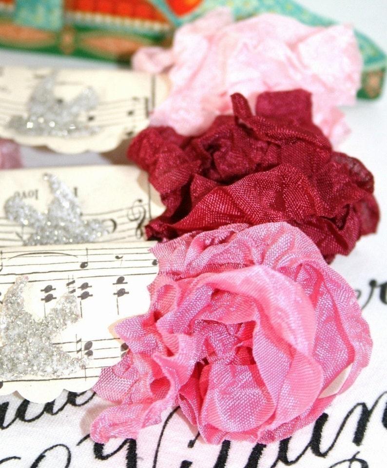 Shabby Ribbon Light Pink AMOUR Pinks Vintage Style Ribbon Dark Pink Seam Binding Ribbon 18 YARDS Medium Pink Bluebird