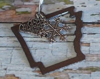 ARKANSAS Christmas Ornament, Outline Arkansas Ornament, Arkansas Souvenir, Arkansas Gift Idea or Stocking Stuffer, LIMITED EDITION 2021