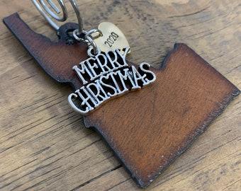 IDAHO Christmas Ornament, SMALL, IDAHO Ornament, Idaho Souvenir, Idaho Gift for University Student, Housewarming, Wedding Party Favor Idea