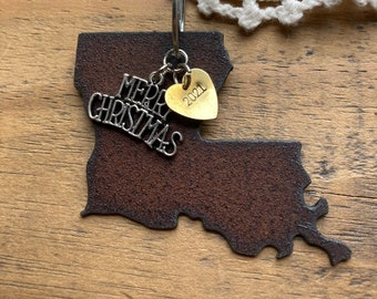 LOUISIANA Christmas Ornament, Louisiana Gift or Stocking Stuffer, Louisiana Ornament, Louisiana Souvenir, New Orleans Wedding Party Favors