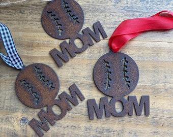 2021 BASEBALL Mom Christmas Ornament, Softball Mom Christmas Ornament, Team Mom Gift Idea, Baseball Ornament, Softball Ornament Sports Gifts