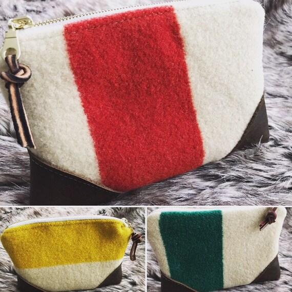 13660335584c Vintage Wool Pendelton Blanket Zipper Bags, Storage, Brown Leather ...