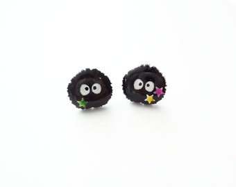 susuwatari stud earrings.