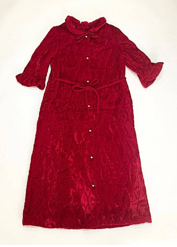Quilted Velvet Housecoat