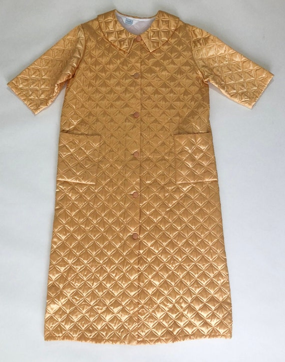 Gold Quilted House Coat