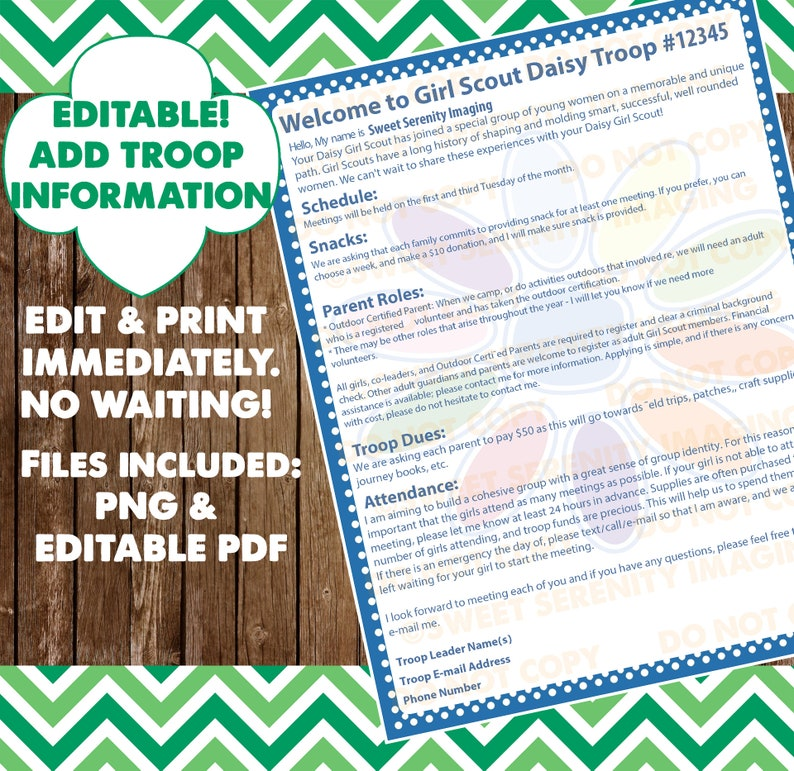 picture about Girl Scout Daisy Song Printable identify EDITABLE Female Scout - Daisy Uniform Record - Chief Organizer Package deal Printable