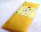 dreamy eye pillowette...lovely yellow.... organic flaxseed and french lavender relaxing sachet