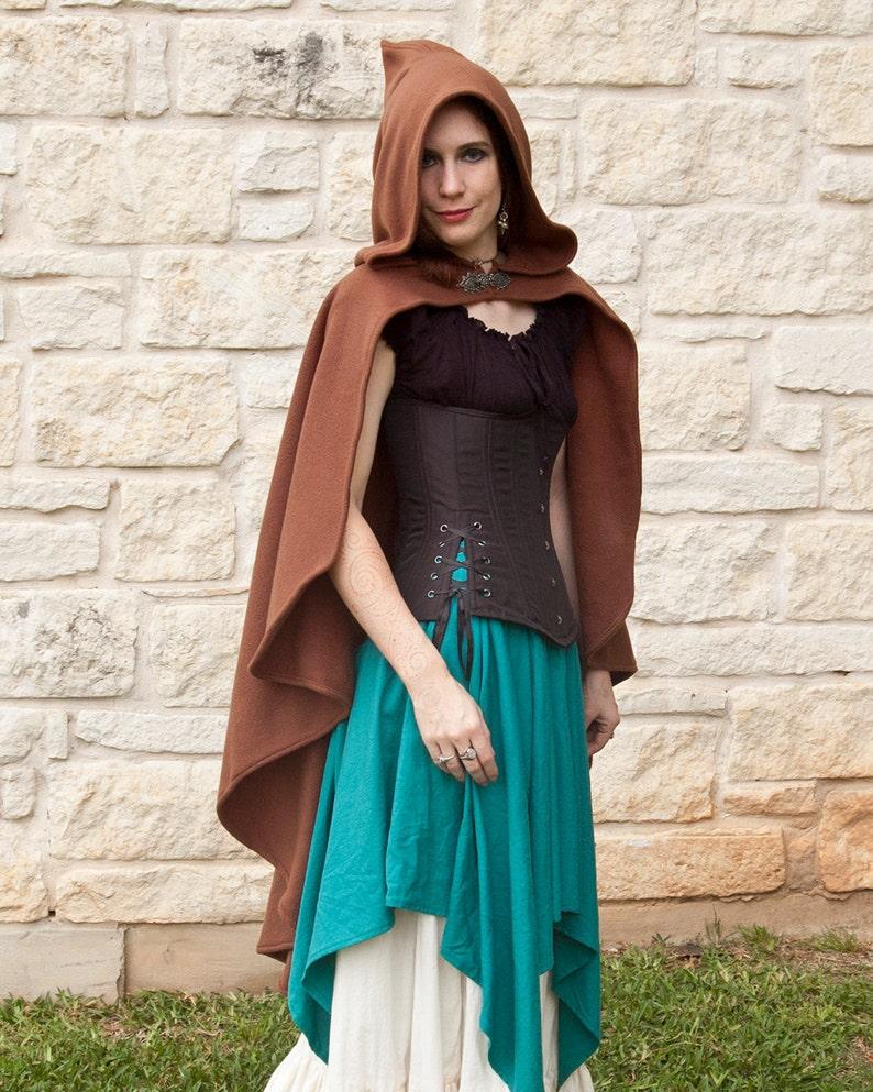 23e220826e Brown Rogue Cape - Renaissance Clothing - Halloween Costume - Ren Faire  Garb - Medieval Clothing - Mens Womens Cloak - Hooded Cape