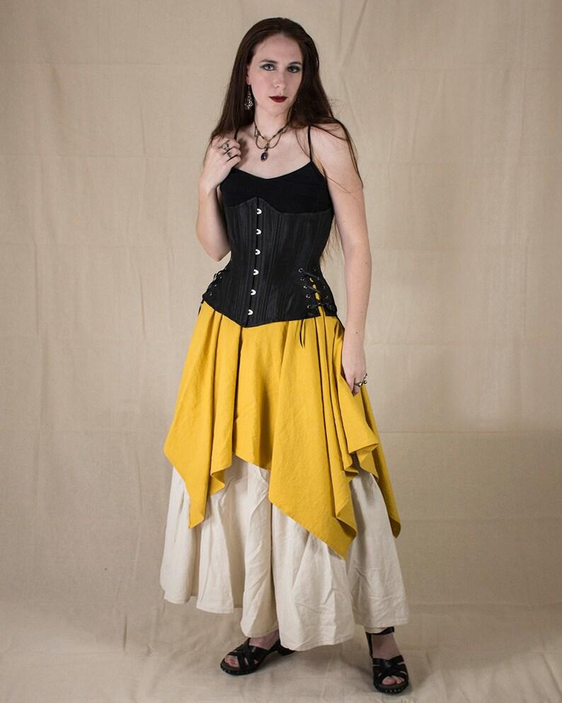 46dc60017287b2 Yellow Linen Pixie Skirt Renaissance Clothing Halloween | Etsy