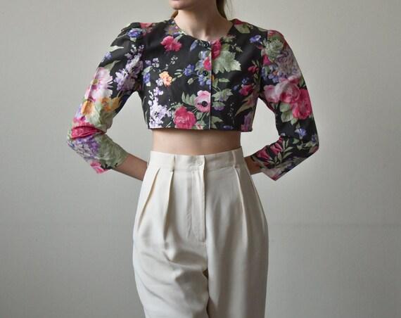 80\u2019s Vintage Handmade Floral Print Suit