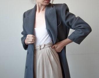 3075o / slate gray wool tailored coat / us 3 / us 4