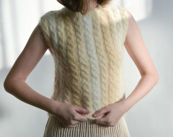 5912t / ellen tracy hand knit ombre mohair blend c