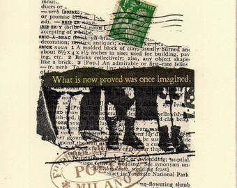 Collaged Postcard - Mixed Media Original